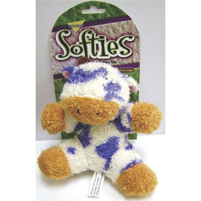 - BOODA Pet Products Softies Terry Cow Dog Toy [Set of 2]