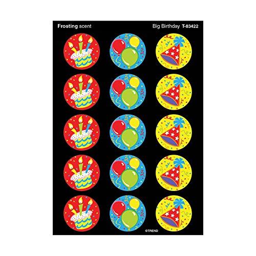 Trend Enterprises Big Birthday/Frosting Stinky Stickers (60 Piece)