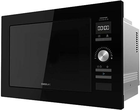 Cecotec Microondas encastrable Digital GrandHeat 2590 Built-In Black. 900 W, Integrable, 25 Litros, Táctil, Grill 1000 W, 8 Funciones preconfiguradas, ...