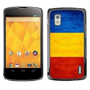 Shell-Star ( National Flag Series-Romania ) Snap On Hard Protective Case For LG Google NEXUS 4 / Mako / E960