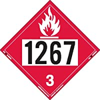 Labelmaster ZRV21267 UN1267 Flammable Liquid Hazmat Placard, Rigid Vinyl (Pack of 25)