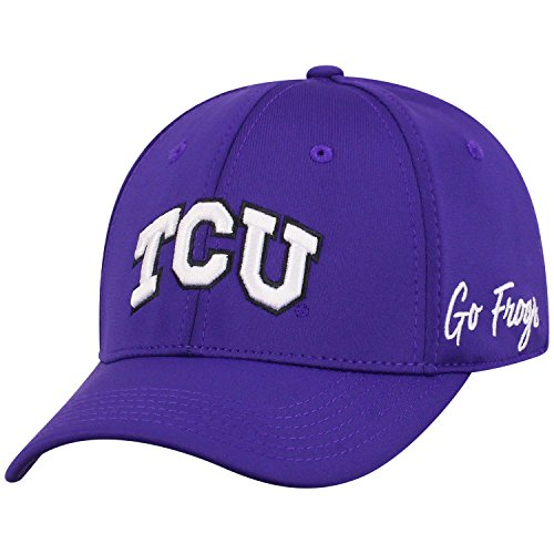 Top of the World TCU Horned Frogs Men's Fitted Hat Icon, Purple, One Fit