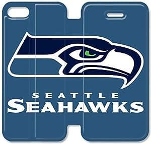 caso de cuero del tirón Seattle Seahawks F3G41M8 iPhone 5 5S 5SE funda caja del teléfono M3D59C9 duro funda para niñas