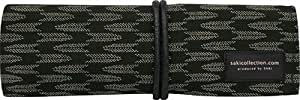 Saki P-661 Roll Pen Case with Traditional Japanese Fabric - Black