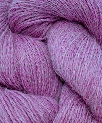 100% Baby Alpaca Lace - Cascade Yarns- Alpaca Lace - Peony Pink Heather 1410h