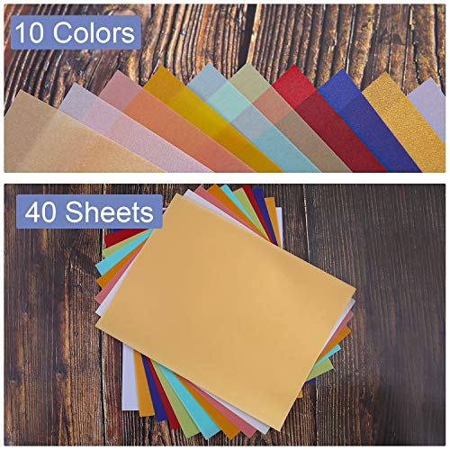 Crafts Scrapbook Pages Invitations Ruisita 40 Sheets 10 Colors Vellum Paper 8.5 x 11 Inches Colored Paper Translucent Sketching Paper Tracing Paper for Printing Multicolor A Cards
