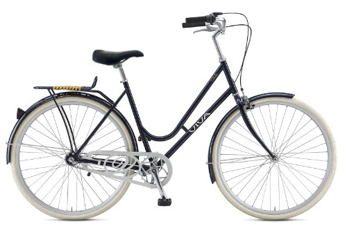 Viva Dolce 3 City Bike, 28 inch Wheels, Women's Bike, Black, 52 cm Frame ()