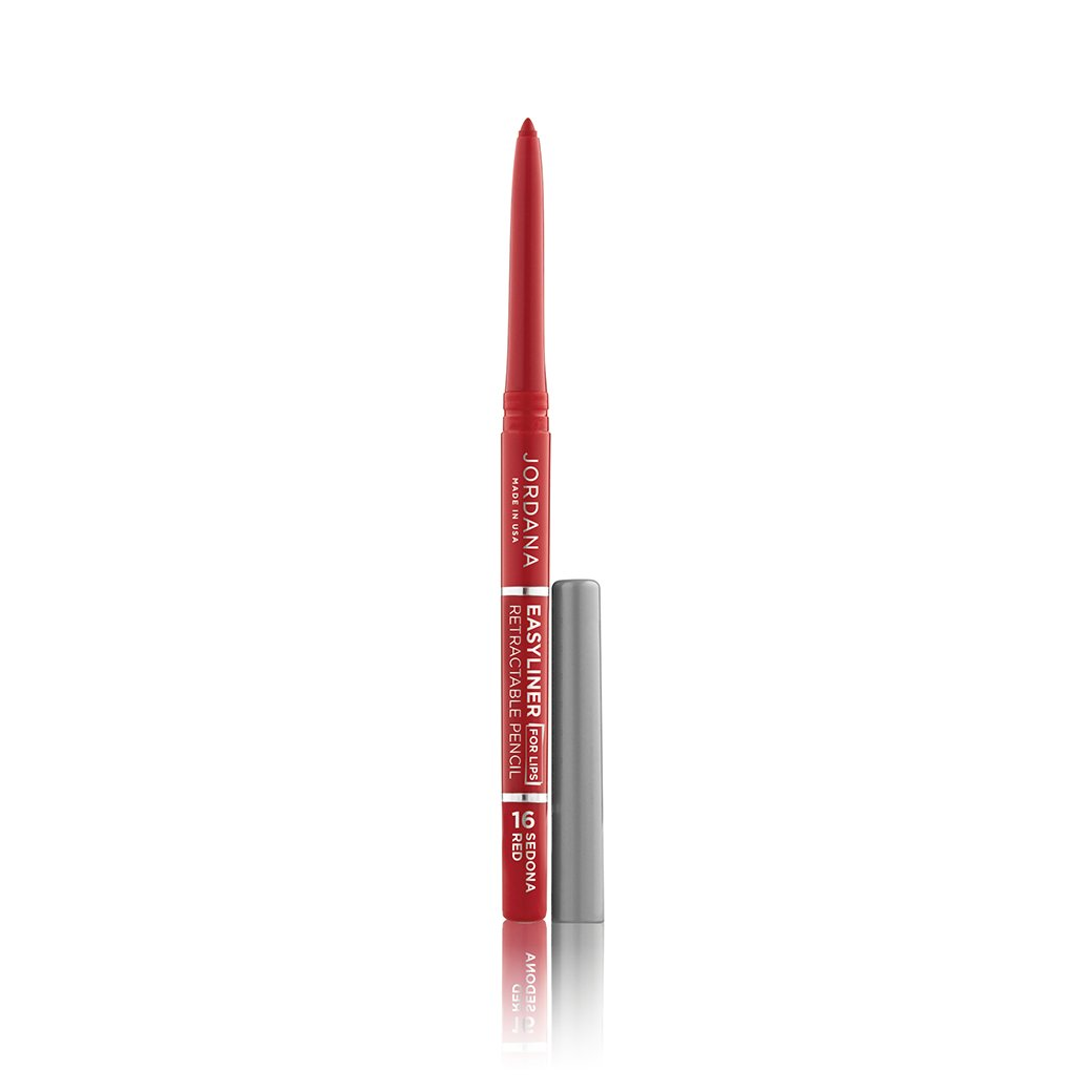(6 Pack) JORDANA Easyliner For Lips - Sedona Red