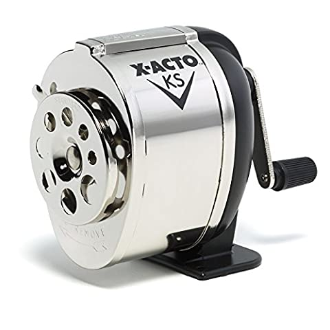 X-ACTO KS Manual Pencil Sharpener, Metal Finish - Volume Commercial Electric Pencil Sharpener
