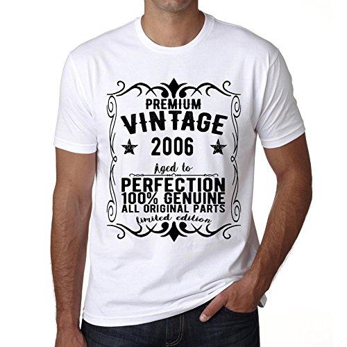 Premium Vintage Year 2006 vintage camiseta cumpleaños camisetas camiseta regalo blanco