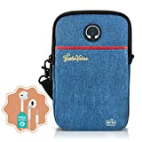 Passport Holder for Women Men Travel Wallet Carrying Case Neck Pouch for Traveling with RFID Blocking, Belt Clip and Shoulder Strap Portable Document Organizer phone Bag it Comes with Free Earphones