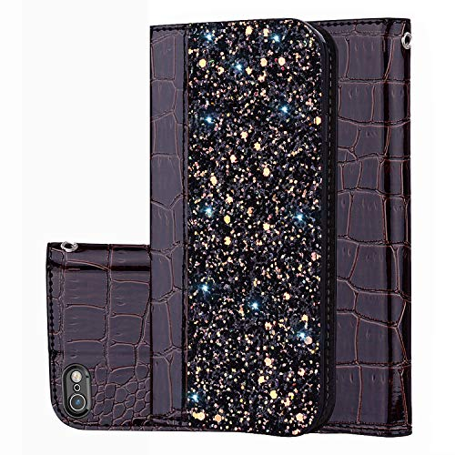 Prime Sale Day Deals Sale Offers 2019-iPhone 6s Wallet Case,iPhone 6 Cover [Bling Glitter Shiny] Leather Flip Folio Case Kickstand Credit Card/ID Slots for iPhone 6s/6 4.7