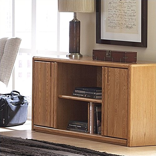 Martin Furniture Contemporary Storage Credenza - Fully Assembled - Medium Oak Credenzas