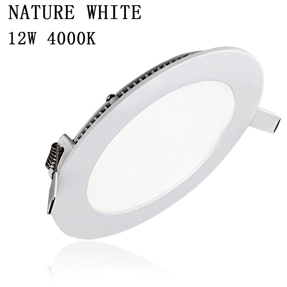 Placa LED Circular Super Slim Downlight LED Energía Empotrable Placa Techo 6W 4000K Luz Neutra 220V XYD® [Clase de eficiencia energética A+]