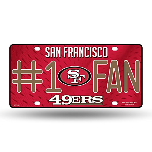 NFL San Francisco 49ers #1 Fan Metal License Plate Tag -