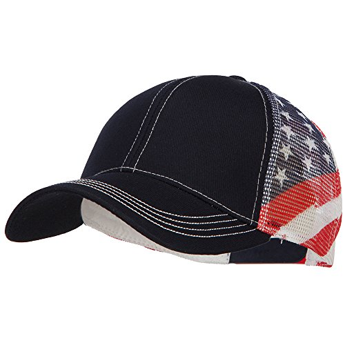 E4hats USA Flag Cotton Twill Mesh Cap - Flag OSFM (Twill Usa Flag)