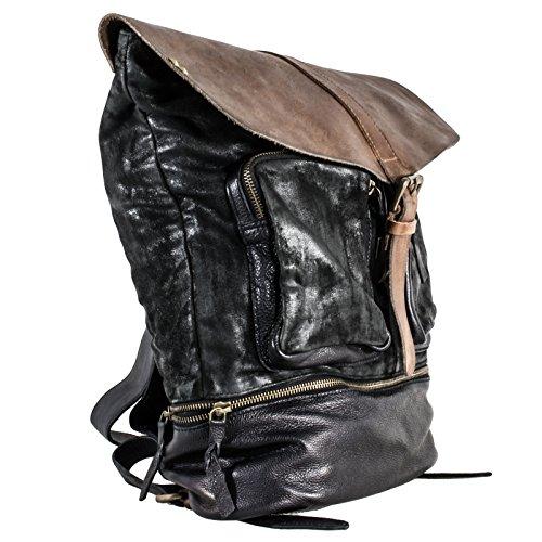 Desiderius - Bolso de asas de Piel para mujer negro