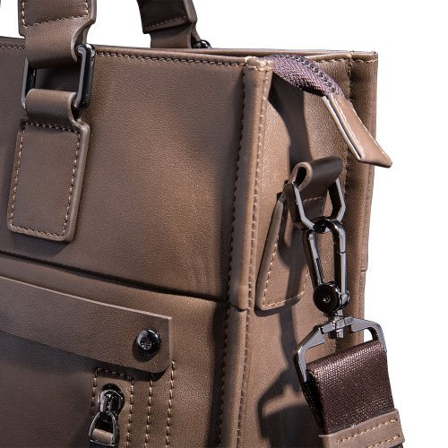 Mens Business Tote Handbag Doctor Leather Document Clutch Bag Strap by MXPBJ (Image #7)