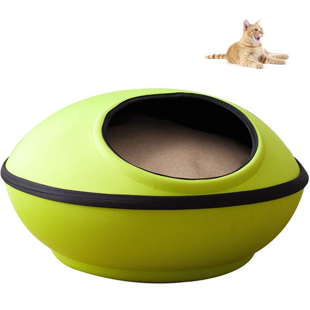 QZX Letto per Gatti Nido di Gatto Pieghevole 2 in 1 con Cuscino Rimovibile Tessuto in Nylon Resistente allo Sporco e all'abrasione Pet House Bed utile per i Gatti