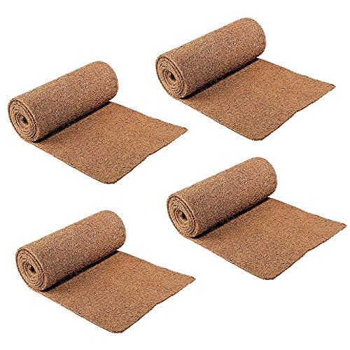 CloseoutZone (Set/4) Ice Carpet Mats - Non Slip Walkway Winter Weather Snow Safety