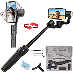 3-Axis Gimbal Stabilizer for iPhone 11 Xs Max XR X 8 7Plus 6 Smartphone Vlog Youtuber Samsung Galaxy Note10/10+ S10+ S9 POV Hitchcock Panorama Face Object Tracking Timelapse FeiyuTech Vimble 2S 9