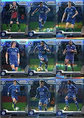 2019-20 Panini Prizm Premier League Soccer Leicester City Team Set of 16 Cards: Kasper Schmeichel(#68), Ricardo Pereira(#69), Jonny Evans(#70), Caglar Soyuncu(#71), Nampalys Mendy(#72), Wes Morgan(#73), Ben Chilwell(#74), Demarai Gray(#75), Wilfred Ndidi(