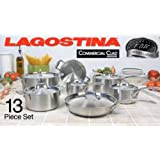 Lagostina Commercial Clad 13pc Cookware Set