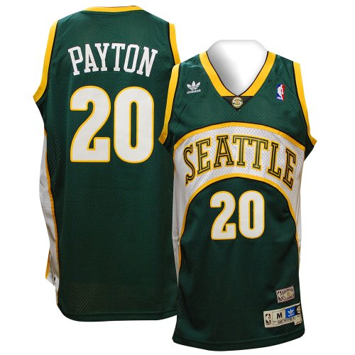 Gary Payton Seattle Supersonics Adidas NBA Throwback Swingman Jersey - Green