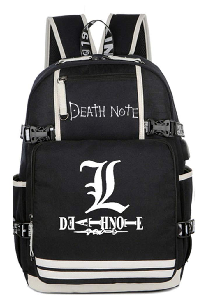 Luminous  1 Cosstars Luminous Death Note Anime School Bag Students Shoulder Backpack with USB Charging Port  3