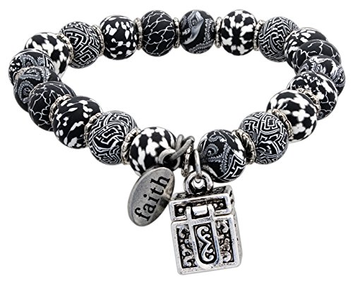 JILZARAH Prayer Box Stretch Bracelet (Black)