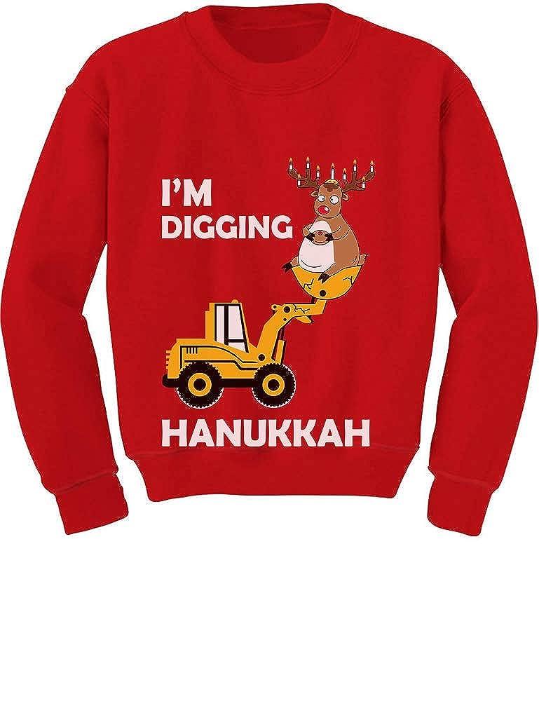 Im Digging Hanukkah Deer /& Tracor Boys Toddler//Kids Sweatshirt Tstars