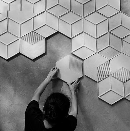 Pinkie Tm Hexagon silicone wall molds silicone rubber molds forms 3D decorative wall panels