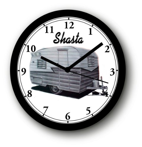 1954 SHASTA TRAVEL TRAILER WALL CLOCK-Free USA Ship