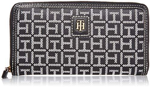 Tommy Hilfiger Julia Large Nylon Zip Wallet, Black/White