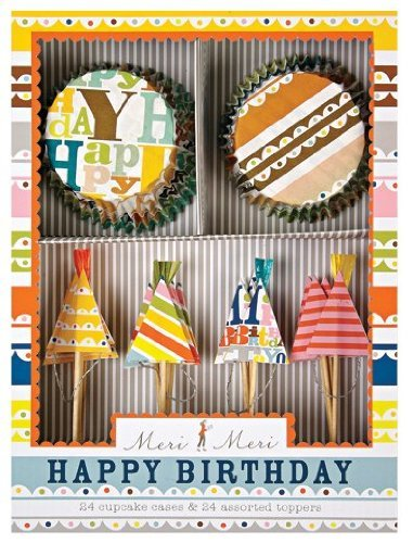 Meri Meri Cupcake Kits, Patterned Happy Birthday