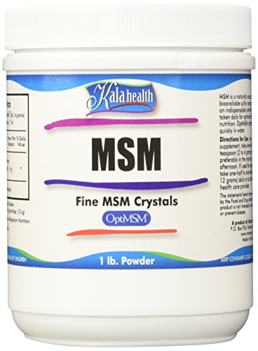 Kala Health MSMPure Fine Powder, Fast Dissolving Crystals, 1 lb, Pure MSM Organic Sulfur Supplement for Joints, Muscle Soreness, Immune Support and Beauty, Skin,Hair & Nails. Made in USA by Kala Health (Image #1)