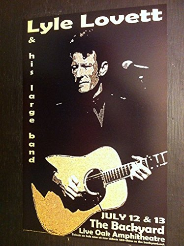 Lyle Lovett His Large Band Rare Limited Edition Texas Concert Tour Gig Poster