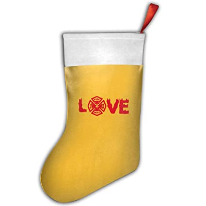 Firefighter Christmas Stocking.Amazon Com Qi82o W Love Firefighter Christmas Stocking