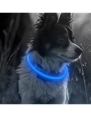 Illumifun LED Dog Collar, USB Rechargeable Lighted Dog Necklace, TPU Cuttable Glowing Collar for Your Dogs (Royal Blue)