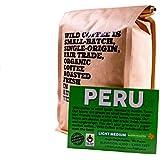 Wild Coffee, Whole Bean Organic Coffee, Fair Trade, Single-Origin, 100% Arabica, Austin Fresh Roasted (Peru Light Medium Roast, 12 ounce)