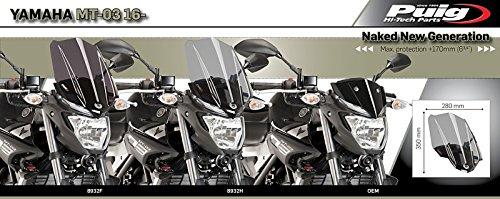 Carenabris Puig Touring Yamaha MT-03 16-18 ahumado oscuro