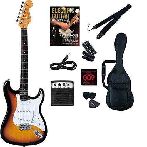エレキギター 初心者セット ストラト ストラトキャスター タイプ 入門 セット KST-150 ビギナーライトセット デスクトップアンプ PhotogenicDESKTOP AMPLIFIER PG-01付属 (3TS) B01IEQWYL4 3TS 3TS