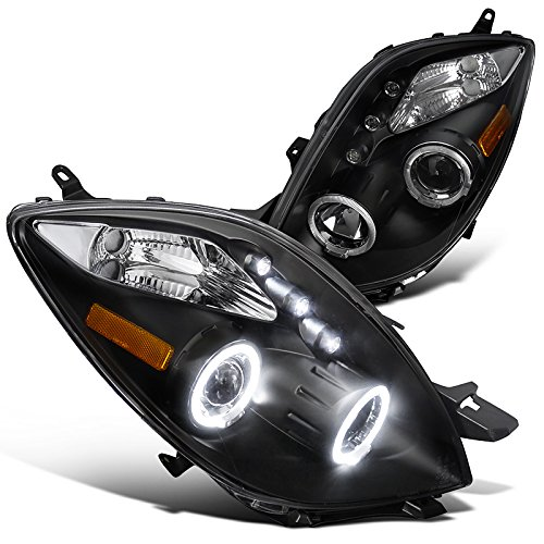 Spec-D Tuning 2LHP-YAR063JM-TM Toyota Yaris 3 Door Hatchback Black Halo Led Projector - 4 Yaris Hatchback Door