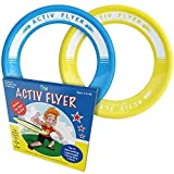 Best Kids Frisbee Rings [Yellow/Cyan] - Top Birthday Presents & Gifts for Young