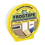 FrogTape 280221 Delicate Surface Painting Tape, Yellow, 1.41-Inch x 60-Yard Roll