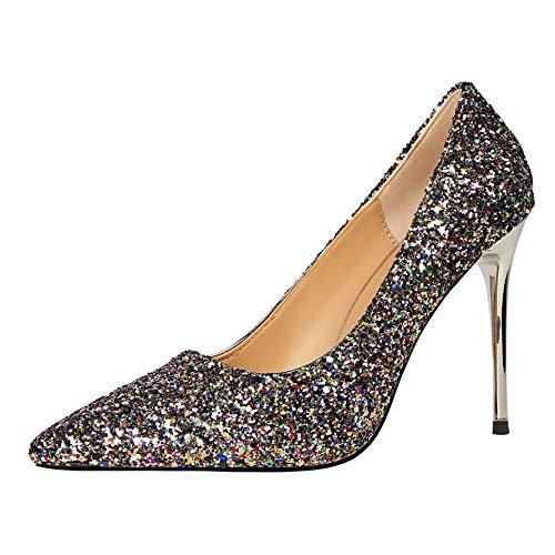 FLYRCX European-Style Spitze Stiletto Pailletten high high high Heels Damenmode sexy Schuhe Hochzeit Schuhe B07JWDB48X Tanzschuhe Garantiere Qualität und Quantität 8a0de5