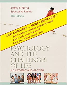 Book Psychology and the Challenges of Life: Adjustment to the New Millennium by Jeffrey S. Nevid (2010-01-07)