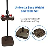 EasyGoProducts Umbrella Base Weight and Table Set, Plastic Universal Weighted Stand Water or Sand...