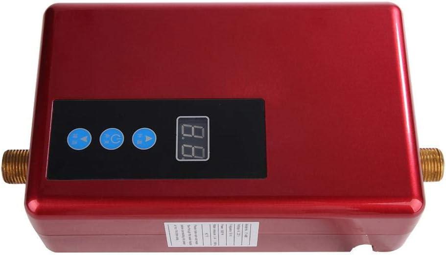 Calentador de Agua Caliente instant/áneo sin Tanque el/éctrico de Acero Inoxidable para ba/ño Blanco Lavado de Cocina Hongzer Calentador de Agua