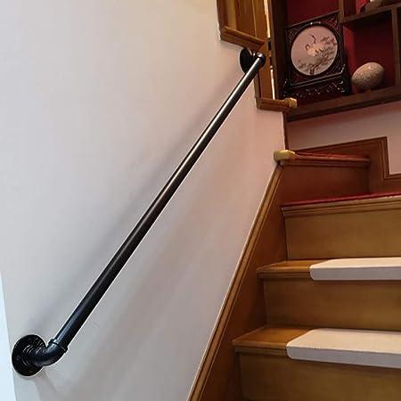 KIRA Pasamanos Escalera Pasamanos Barandilla Seguridad Soporte contra La Pared Loft Interior Barandillas - Seleccione Longitud - para Interiores Y Exteriores, Escaleras, Balcón: Amazon.es: Hogar
